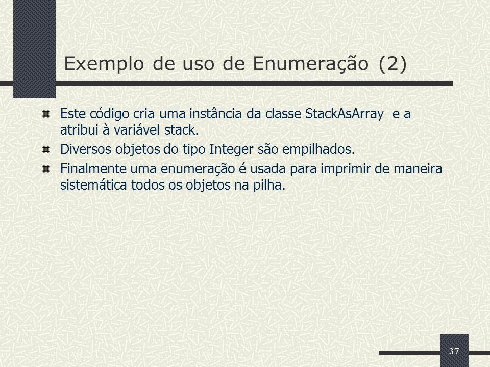 Exemplo de uso de Enumeração (2)