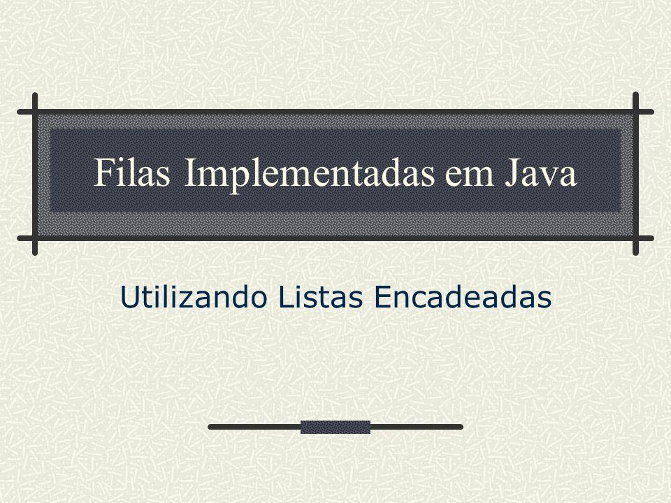 Filas Implementadas em Java