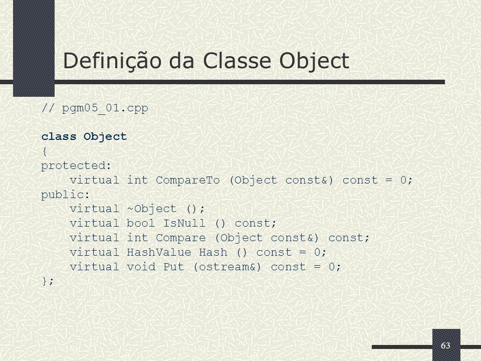 Definição da Classe Object