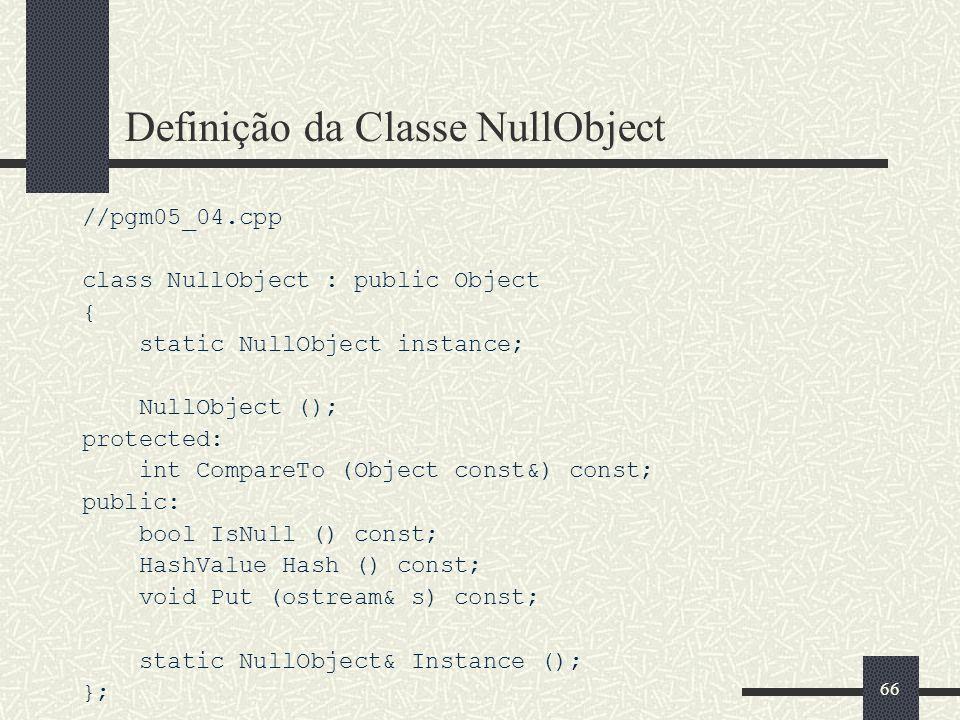 Definição da Classe NullObject