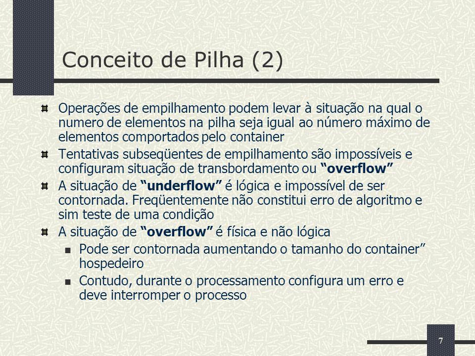 Conceito de Pilha (2)