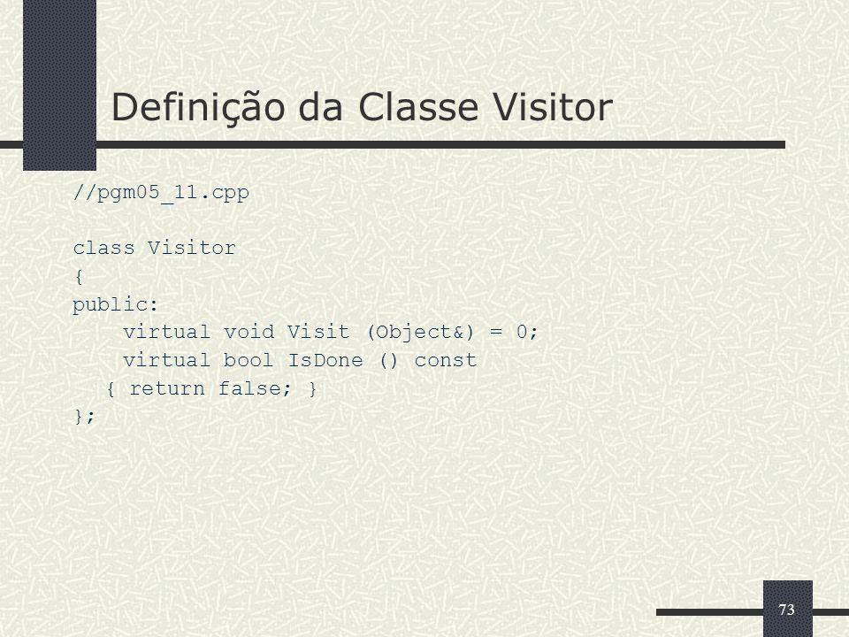 Definição da Classe Visitor