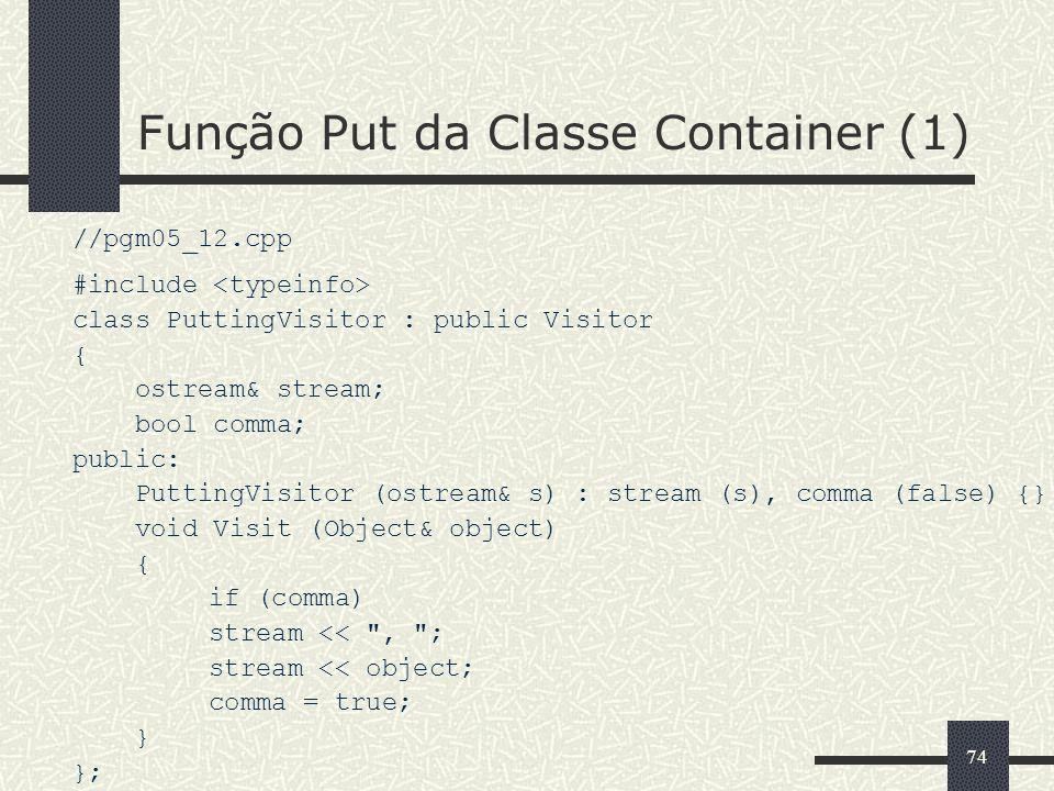 Função Put da Classe Container (1)