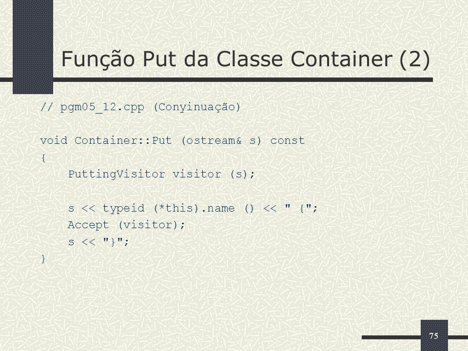 Função Put da Classe Container (2)