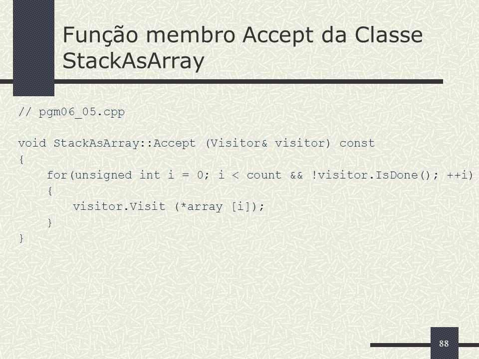 Função membro Accept da Classe StackAsArray