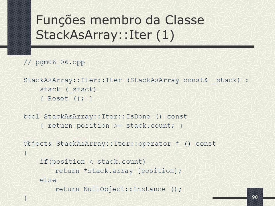 Funções membro da Classe StackAsArray::Iter (1)