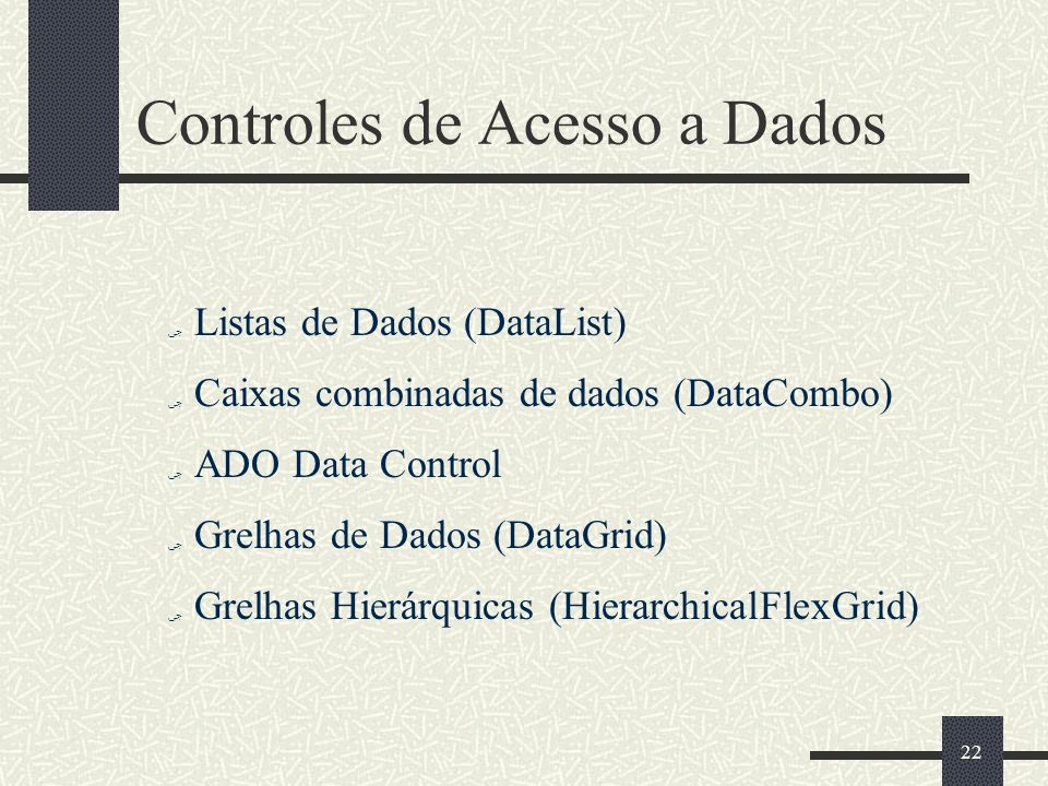 Controles de Acesso a Dados