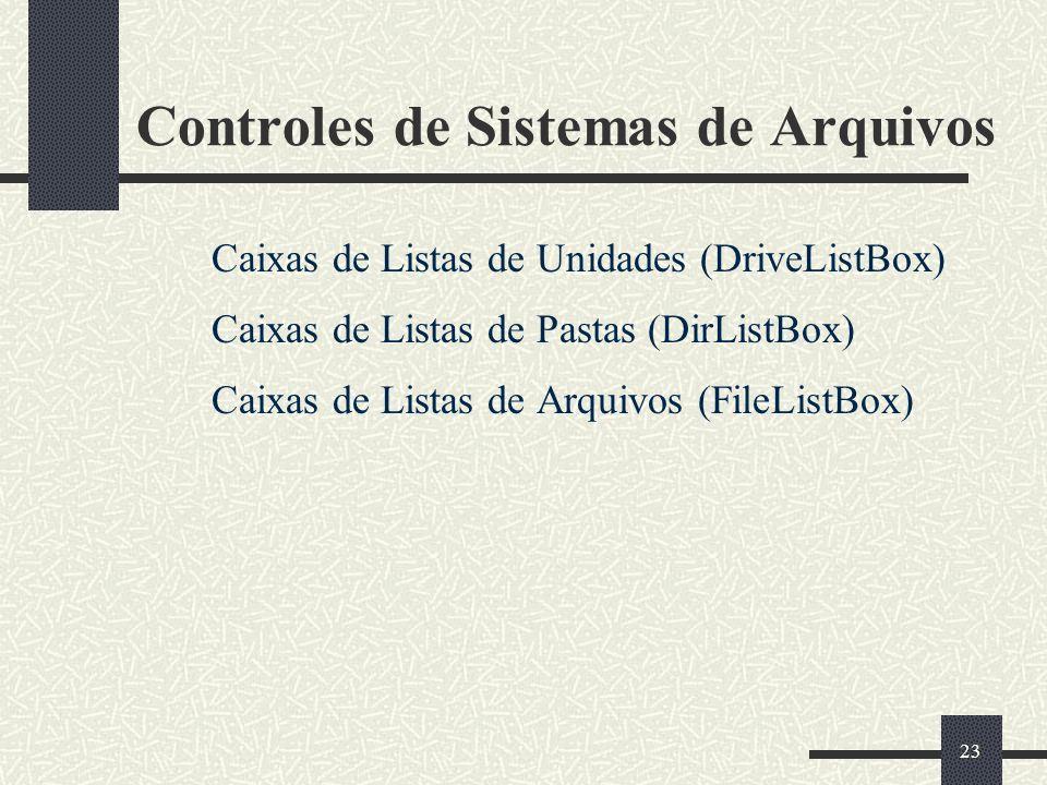 Controles de Sistemas de Arquivos