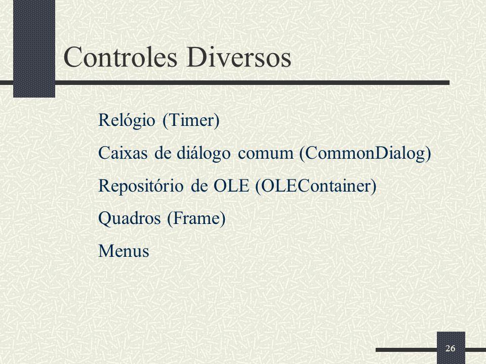 Controles Diversos Relógio (Timer)