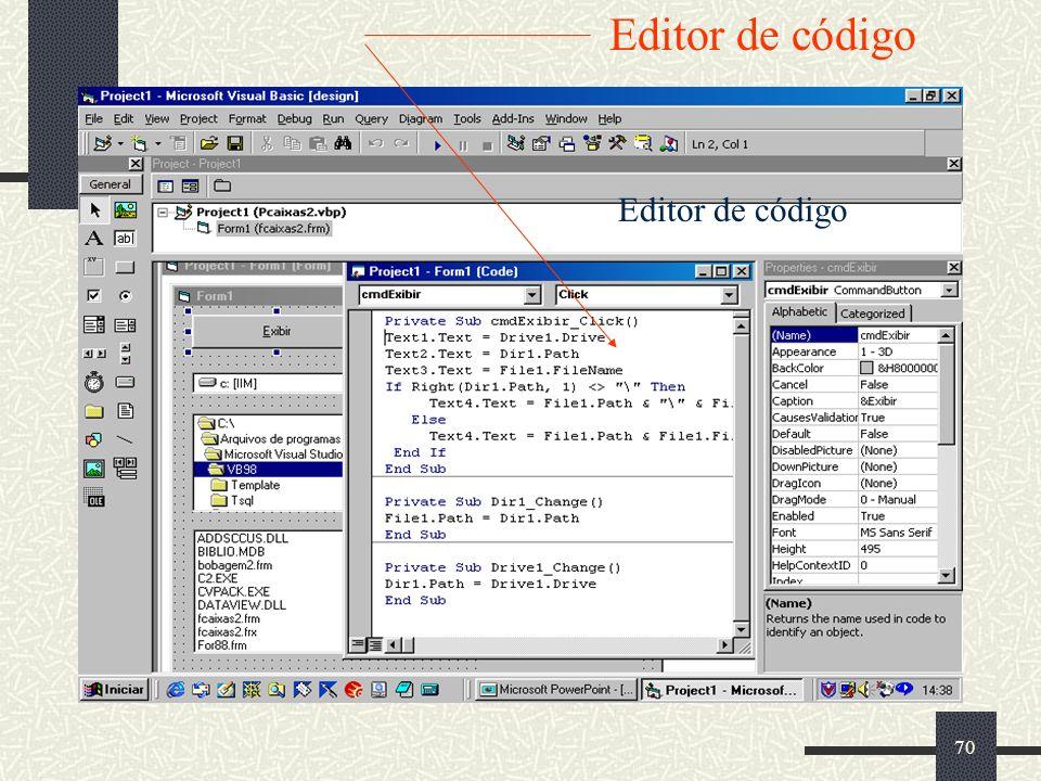 Editor de código Editor de código
