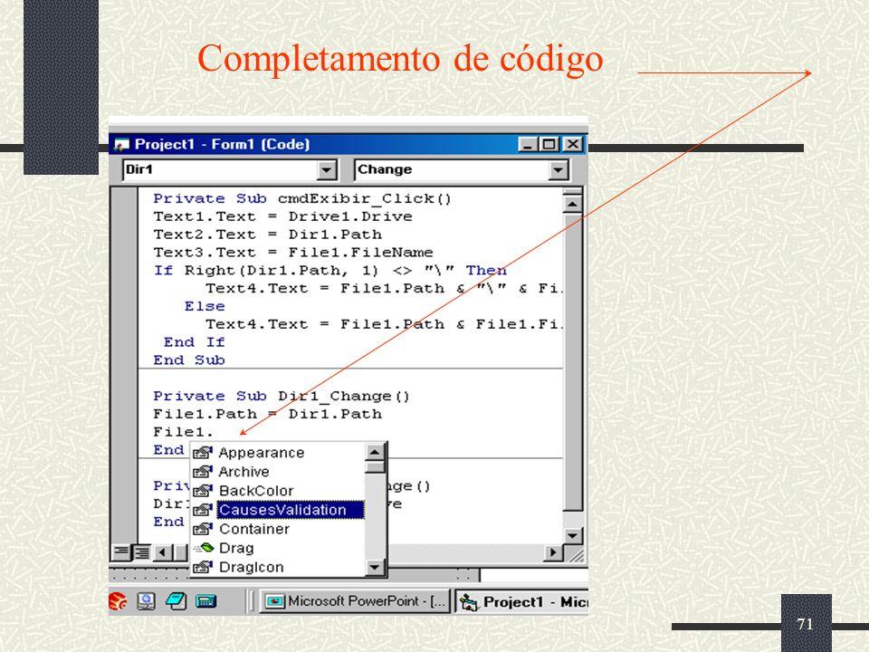 Completamento de código