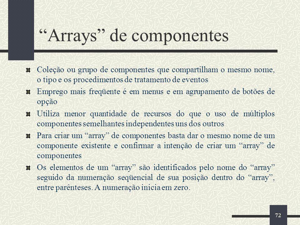 Arrays de componentes