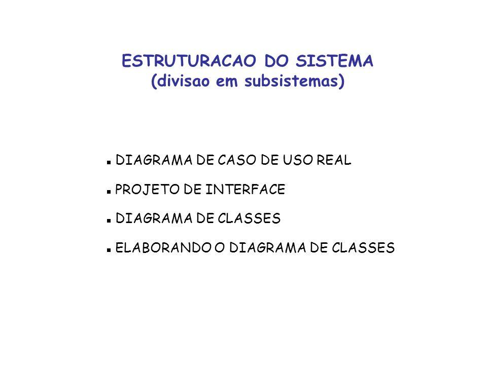 ESTRUTURACAO DO SISTEMA (divisao em subsistemas)