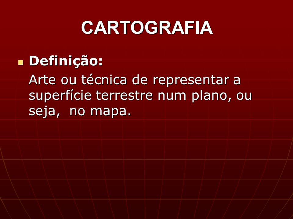 CARTOGRAFIA Definição: