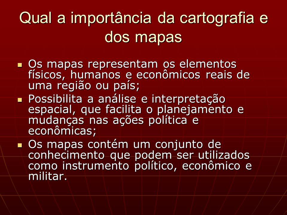Qual a importância da cartografia e dos mapas