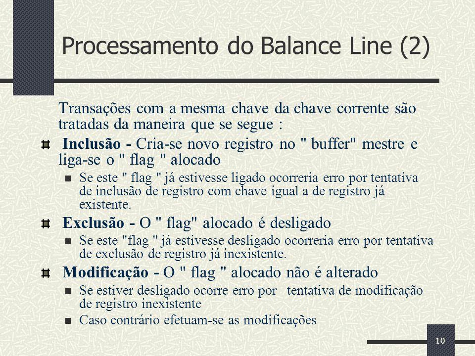 Processamento do Balance Line (2)