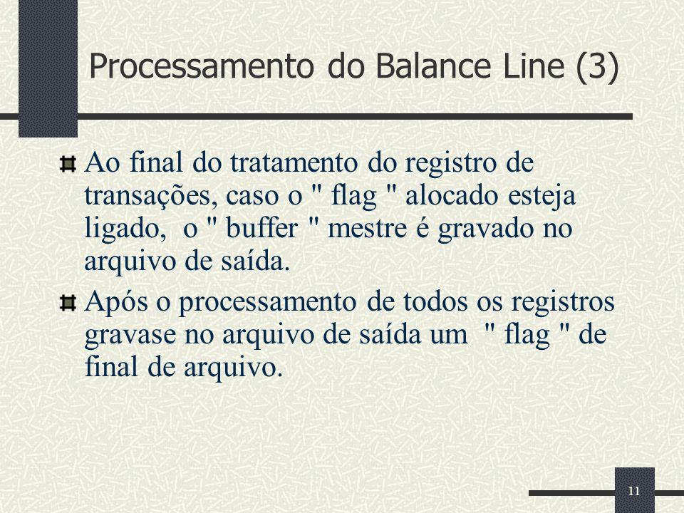 Processamento do Balance Line (3)