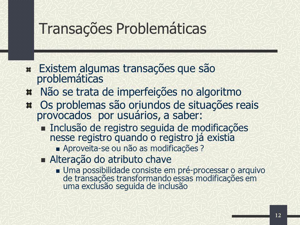 Transações Problemáticas