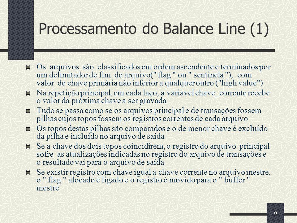 Processamento do Balance Line (1)