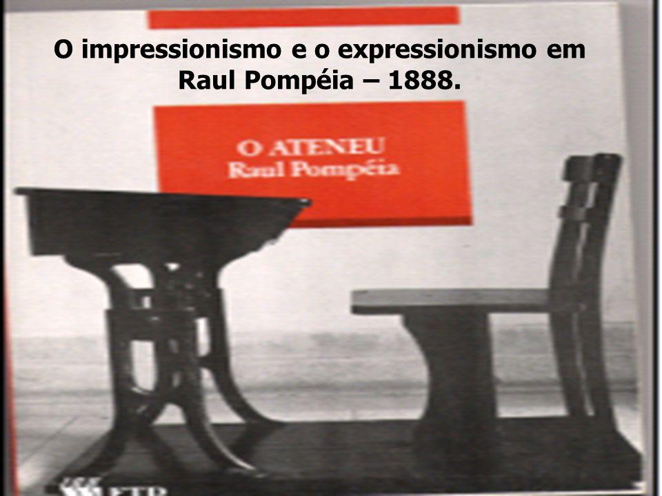 O impressionismo e o expressionismo em Raul Pompéia – 1888.