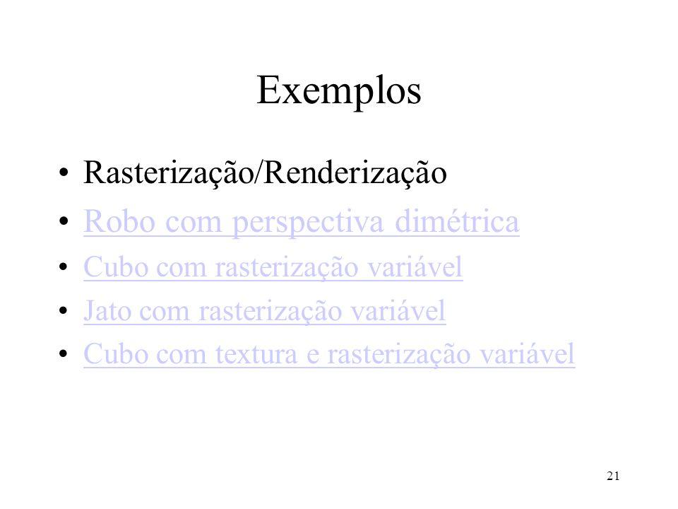 Exemplos Rasterização/Renderização Robo com perspectiva dimétrica
