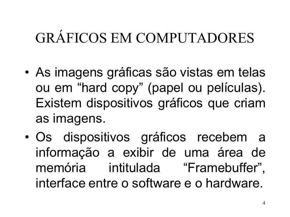 GRÁFICOS EM COMPUTADORES