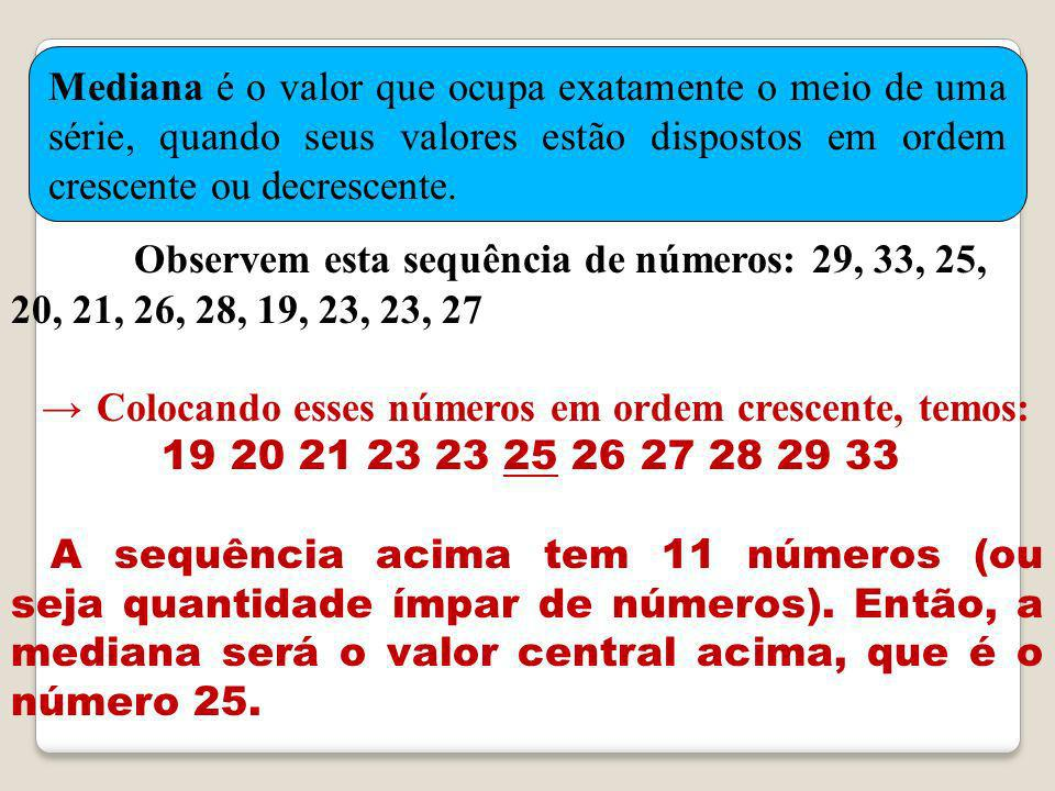 Observem esta sequência de números: 29, 33, 25, 20, 21, 26, 28, 19, 23, 23, 27
