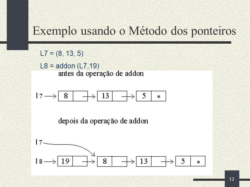Exemplo usando o Método dos ponteiros