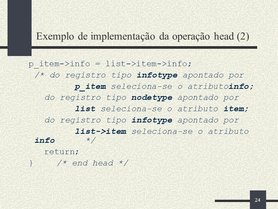 Exemplo de implementação da operação head (2)