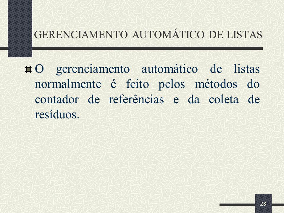 GERENCIAMENTO AUTOMÁTICO DE LISTAS