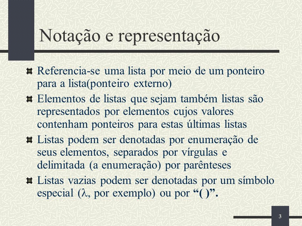 Notação e representação