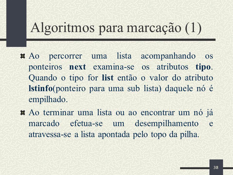 Algoritmos para marcação (1)