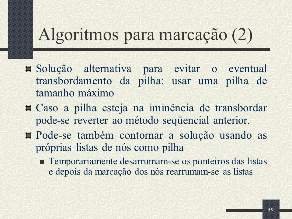 Algoritmos para marcação (2)