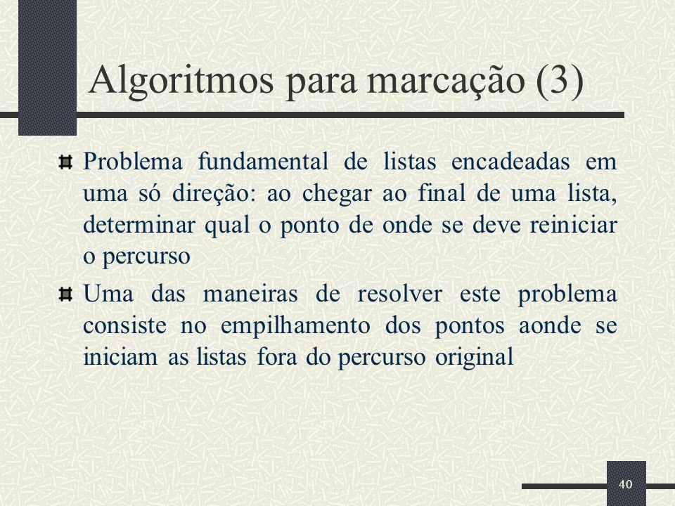 Algoritmos para marcação (3)