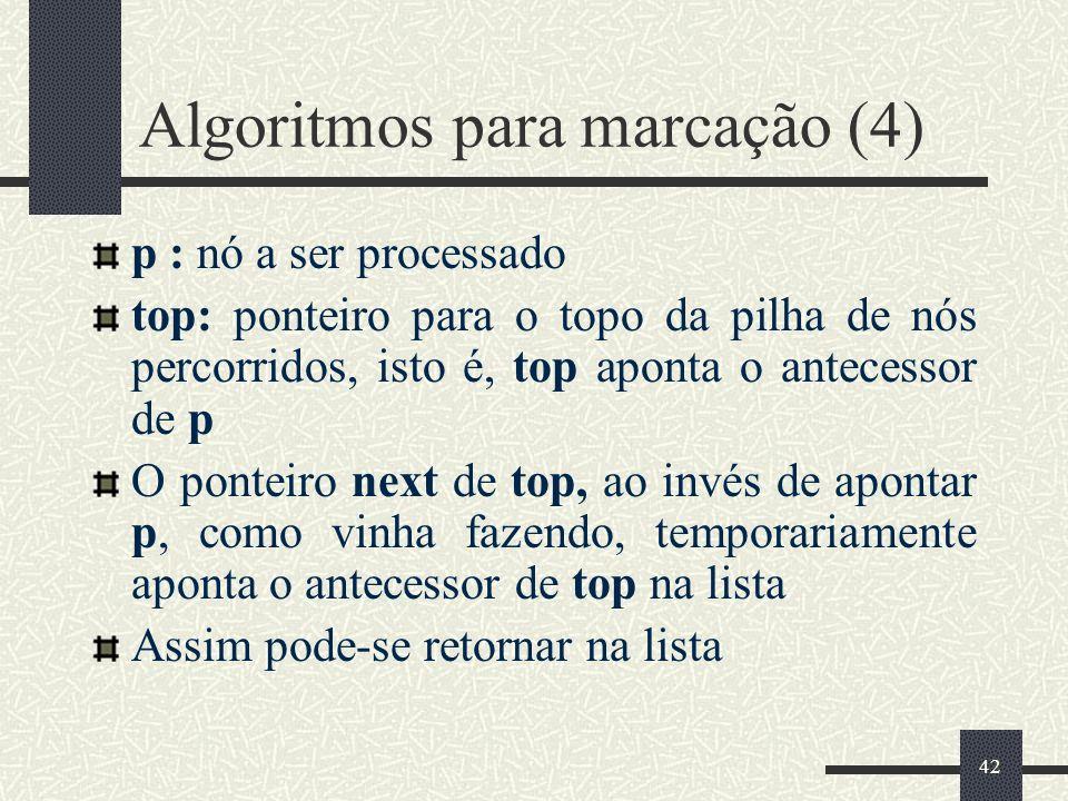 Algoritmos para marcação (4)