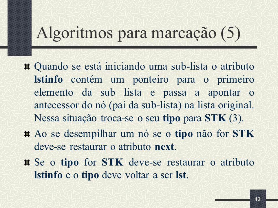 Algoritmos para marcação (5)
