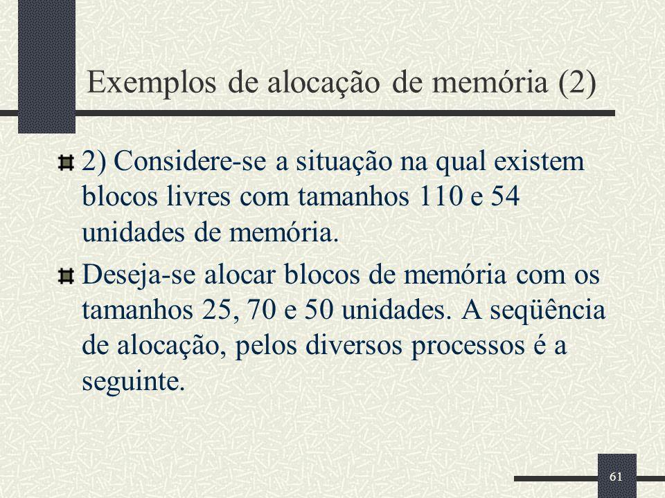 Exemplos de alocação de memória (2)
