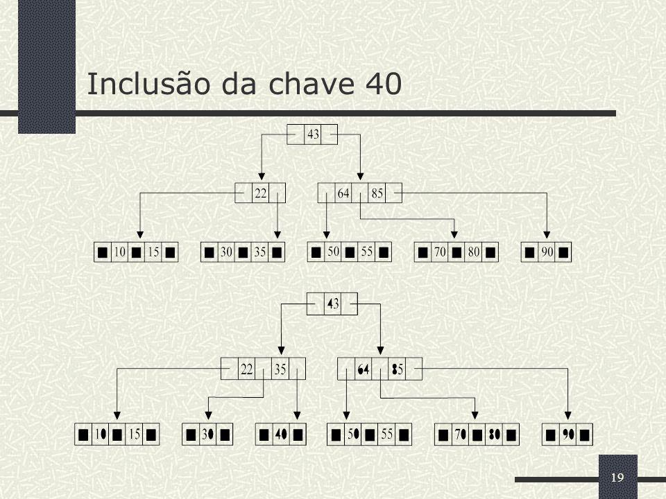 Inclusão da chave 40