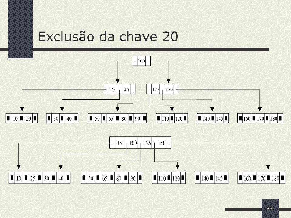 Exclusão da chave 20