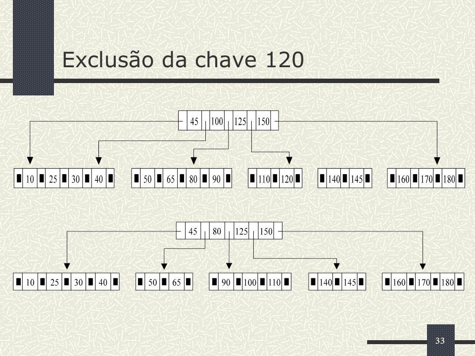 Exclusão da chave 120