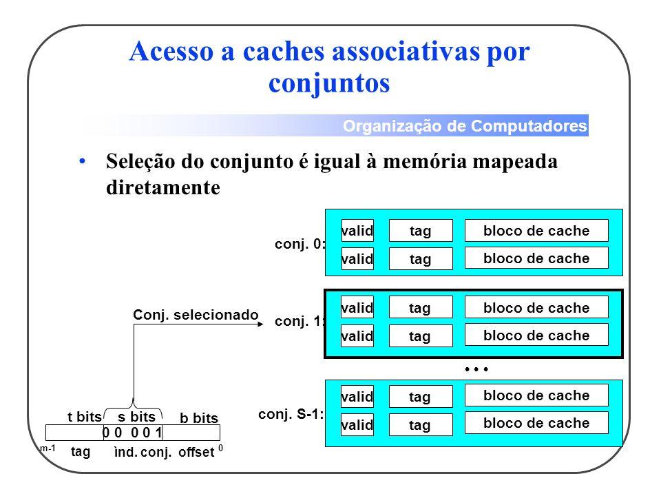 Acesso a caches associativas por conjuntos