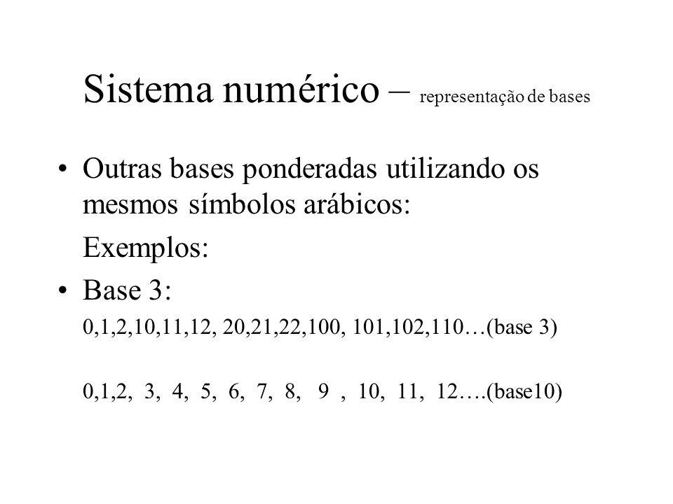 Sistema numérico – representação de bases
