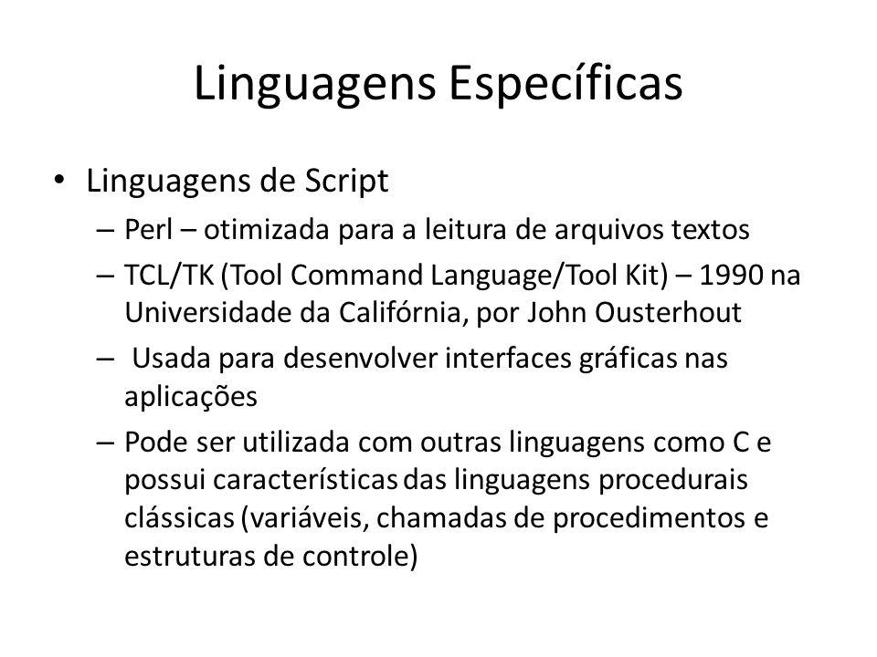 Linguagens Específicas