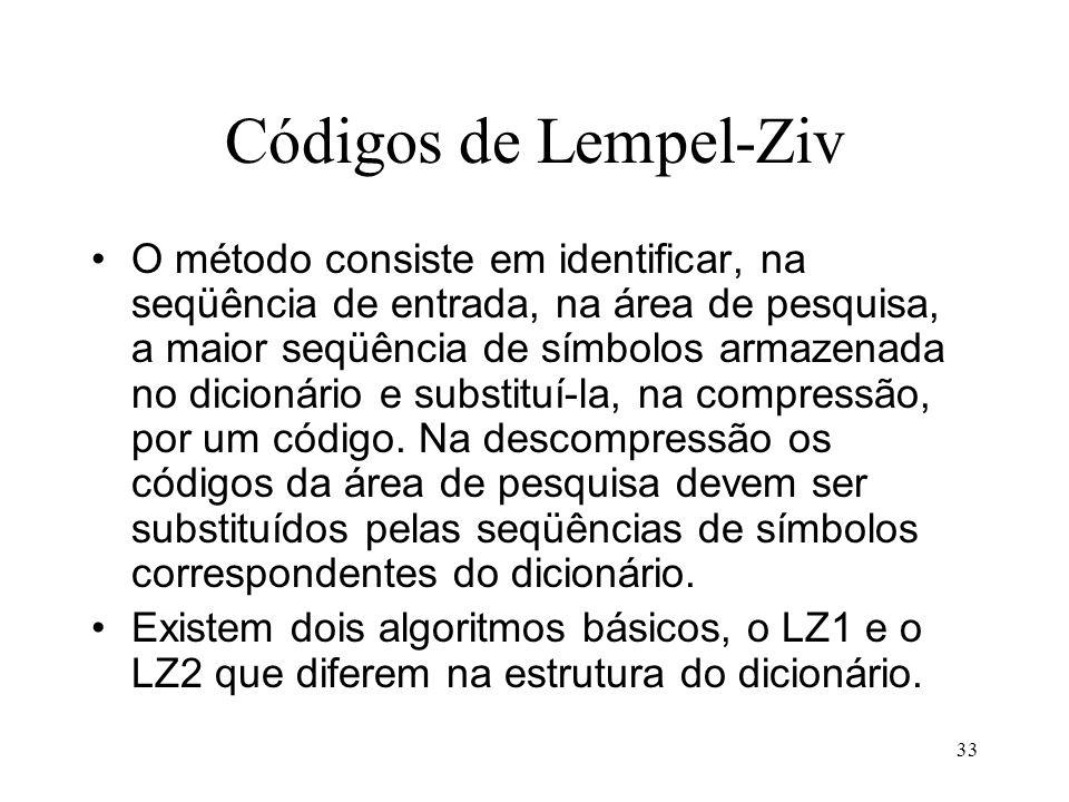 Códigos de Lempel-Ziv