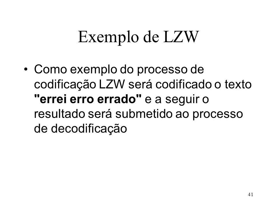 Exemplo de LZW