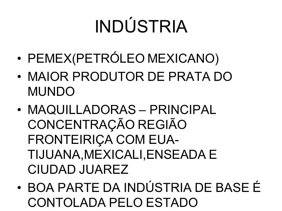INDÚSTRIA PEMEX(PETRÓLEO MEXICANO) MAIOR PRODUTOR DE PRATA DO MUNDO