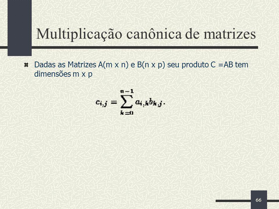 Multiplicação canônica de matrizes
