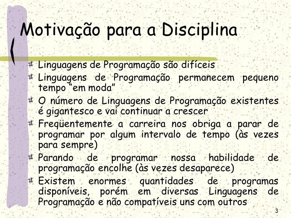 Motivação para a Disciplina