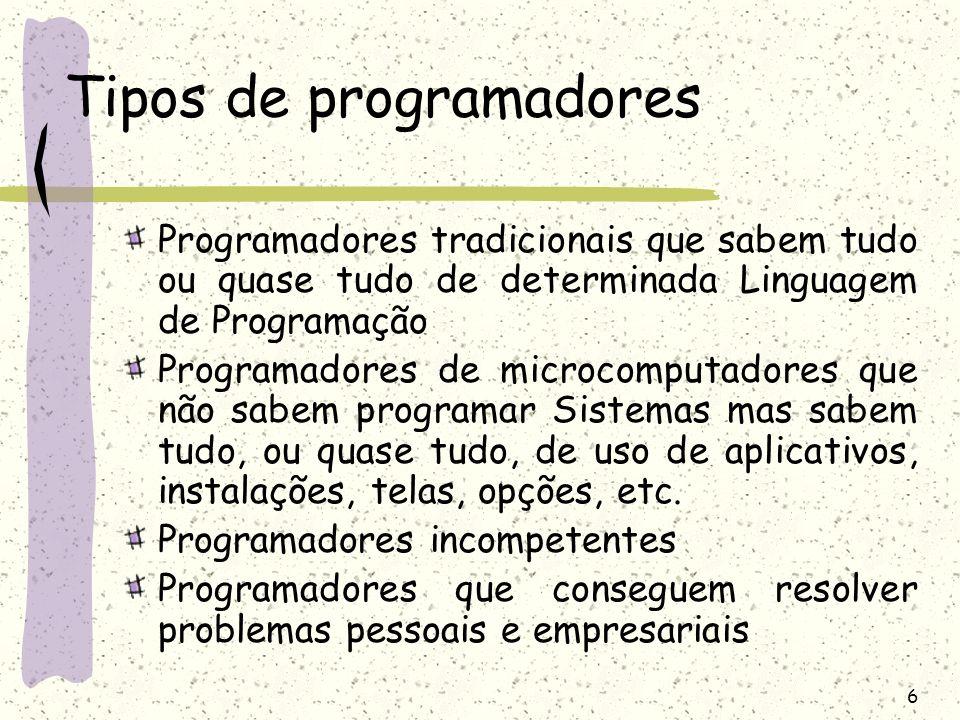 Tipos de programadores
