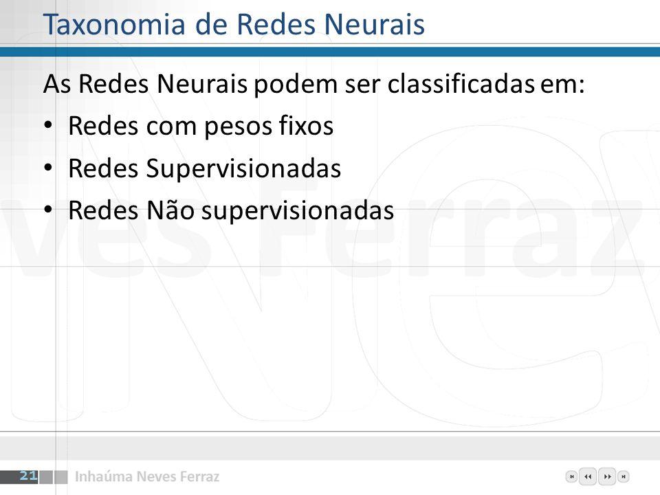 Taxonomia de Redes Neurais